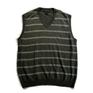 Brooks Brothers Sweater Vest Golf Merino Wool Grey